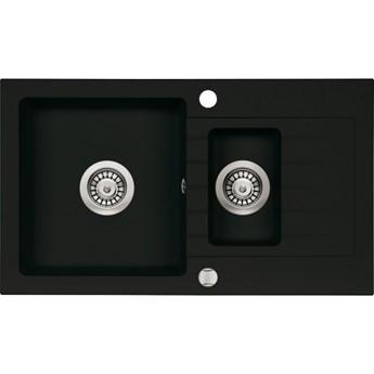 Deante Zorba zlewozmywak granitowy 76x44 cm czarny mat ZQZ N513