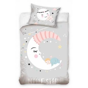 Pościel bawełniana do łóżeczka Baby 90x120 Księżyc, Carbotex