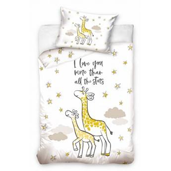 Pościel bawełniana do łóżeczka Baby 90x120 Żyrafa, Carbotex