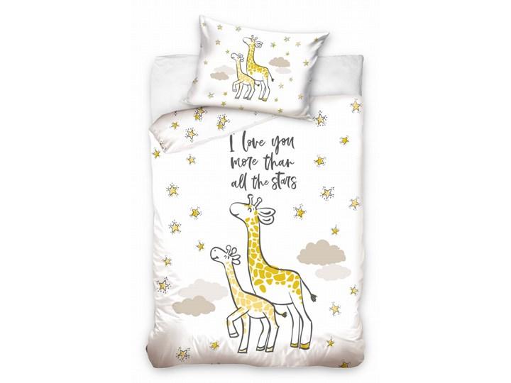 Pościel bawełniana do łóżeczka Baby 90x120 Żyrafa, Carbotex Bawełna 90x120 cm Komplet pościeli Rozmiar poduszki 40x60 cm