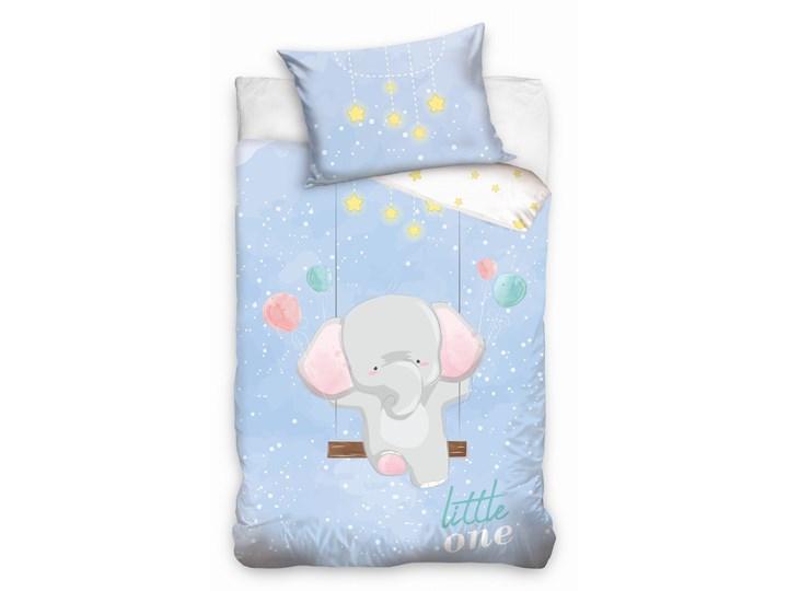 Pościel bawełniana do łóżeczka Baby 90x120 Słonik, Carbotex Komplet pościeli Bawełna 90x120 cm Kategoria Komplety pościeli