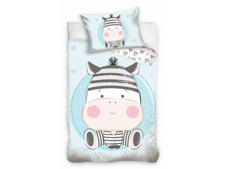 Pościel bawełniana do łóżeczka Baby 90x120 Zebra, Carbotex 90x120 cm Bawełna Komplet pościeli Pomieszczenie Pościel dziecięca