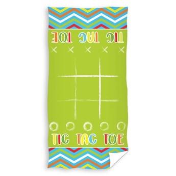 Ręcznik bawełniany plażowy 70x140 Wakacje 2w1 Kółko Krzyżyk, Carbotex