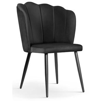 Krzesło Muszelka Hilton czarne nogi / BL 19