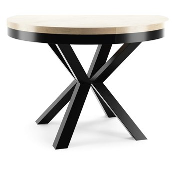Stół okrągły Norway rozkładany loftowy nowoczesny