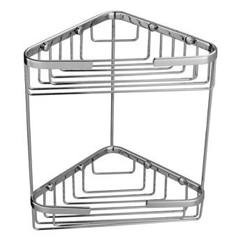 Uni koszyk prysznicowy narożny podwójny chrom UN3515ACR