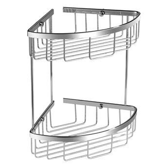Uni koszyk prysznicowy narożny podwójny chrom UN3509CR