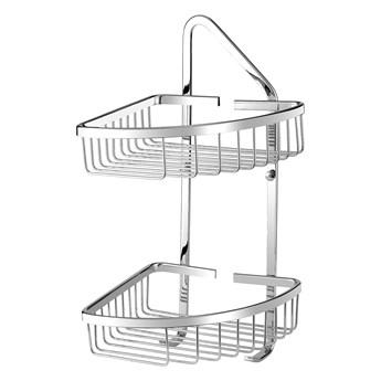 Uni koszyk prysznicowy narożny podwójny chrom UN3510CR
