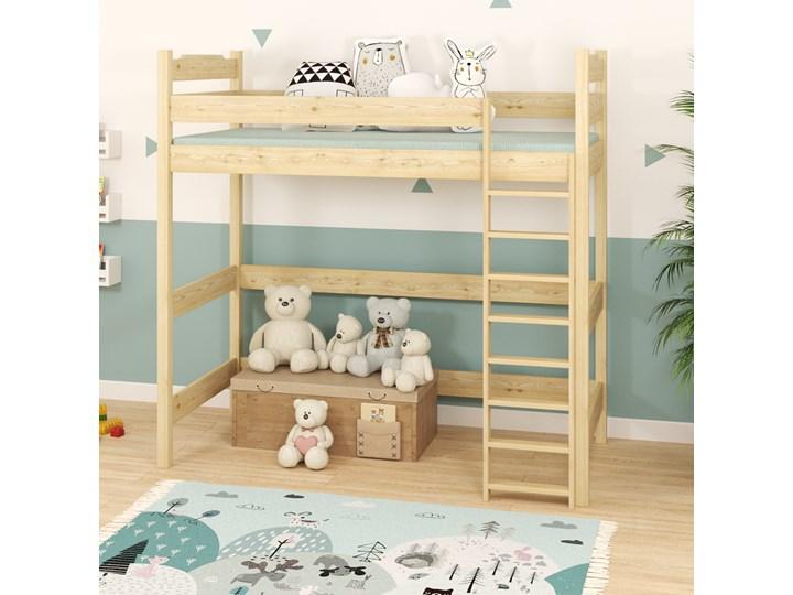 Łóżko antresola IGOR wiele rozmiarów i kolorów Drewno Łóżko na antresoli Kategoria Łóżka dla dzieci Kolor Beżowy