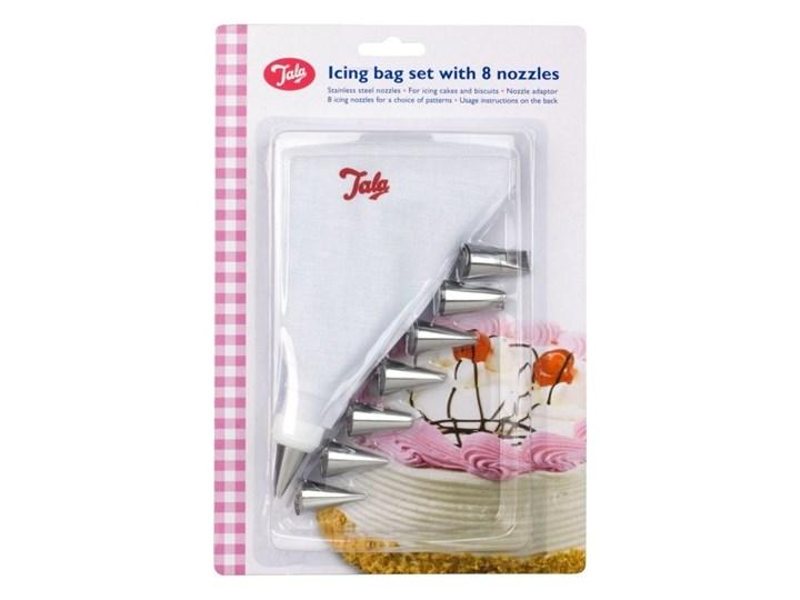 Tala - Rękaw cukierniczy z 8 tylkami i adapterem Końcówki do dekoracji Rękawy cukiernicze Kategoria Dekoracja wypieków