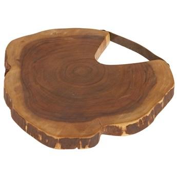 Deska do serwowania Ledy okrągła z litego drewna akacjowego