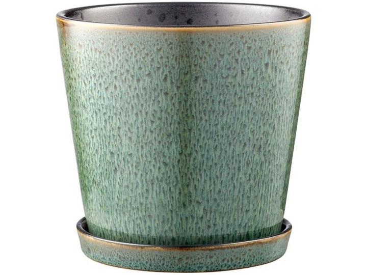 Doniczka z podstawką Bitz Ø14x13 cm zielona - środek czarny Ceramika Doniczka na kwiaty Kategoria Doniczki i kwietniki