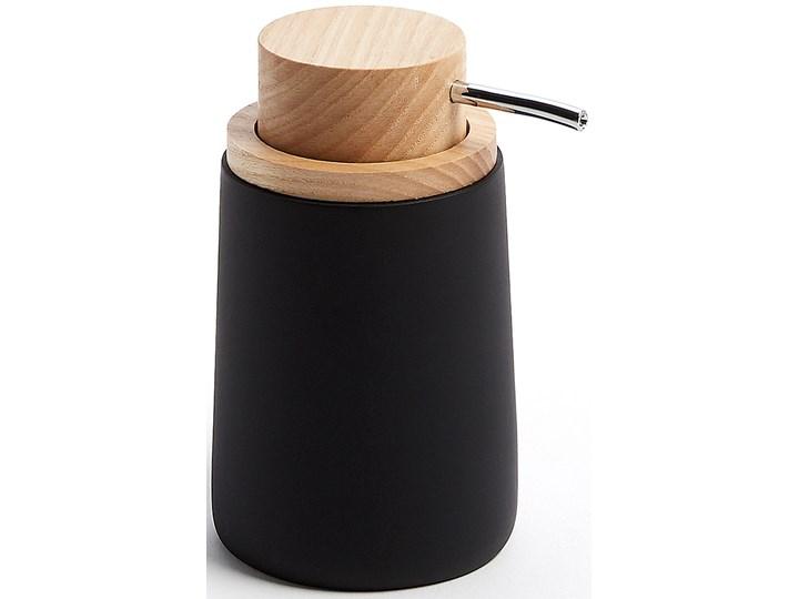 Dozownik do mydla Jenning czarny i drewno bukowe