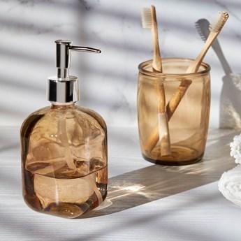 Dozownik do mydla Trella wykonany w 100% z przetworzonego brazowego szkla