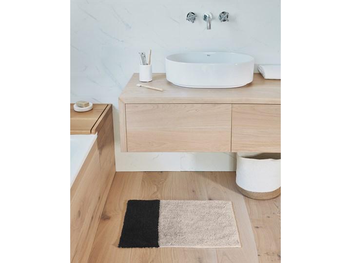 Dywanik łazienkowy Maica 60x40 cm beżowo-czarny 40x60 cm Kolor Beżowy