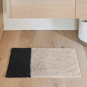 Dywanik łazienkowy Maica 60x40 cm beżowo-czarny
