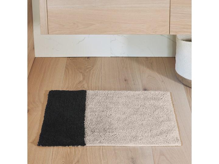 Dywanik łazienkowy Maica 60x40 cm beżowo-czarny Kolor Beżowy 40x60 cm Kategoria Dywaniki łazienkowe