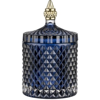 Pojemnik z pokrywką Miya Ø11x18 cm transparentny niebieski