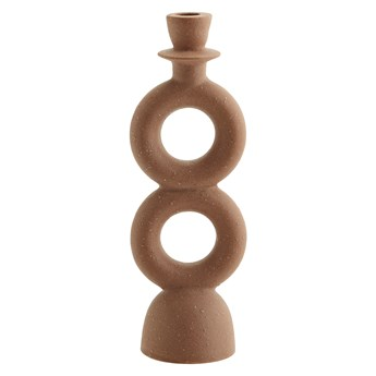 Świecznik Stone 30 cm ceglasty