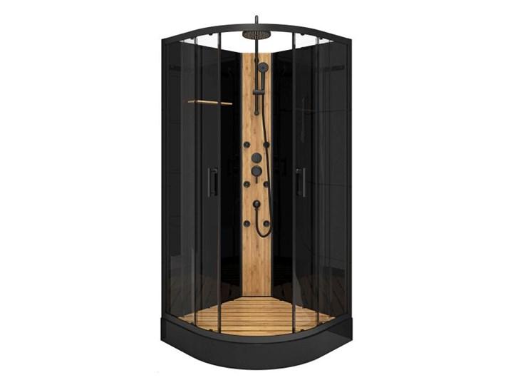Kabina prysznicowa z hydromasażem Bamboo 90 cm półokrągła niski brodzik