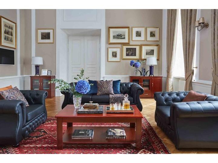 3-osobowa sofa Chester Lux, czarna, skóra