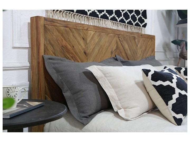 Łóżko drewniane Idyllic z zagłówkiem, 180x200 Drewno Rozmiar materaca 180x200 cm