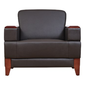 Fotel skórzany wypoczynkowy Porter, brąz