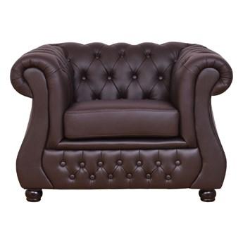 Fotel gabinetowy Chester Lux skóra naturalna brąz