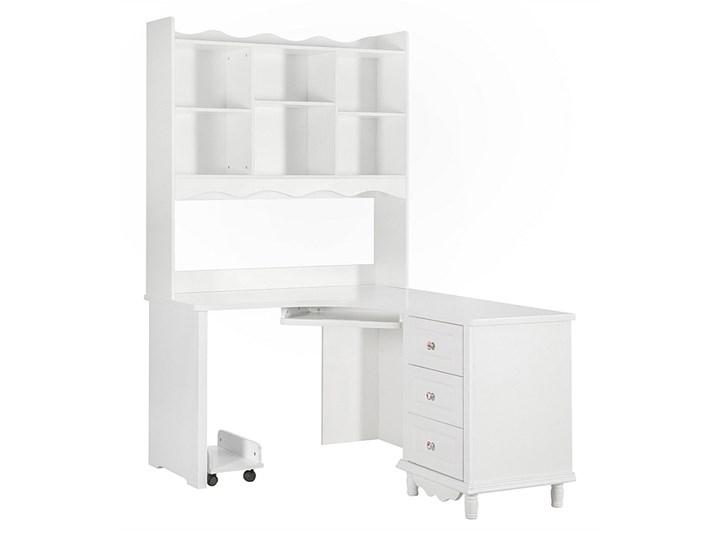 Narożne białe biurko z nadstawką Victoria813 Biurko narożne Szerokość 150 cm Płyta MDF Kategoria Biurka