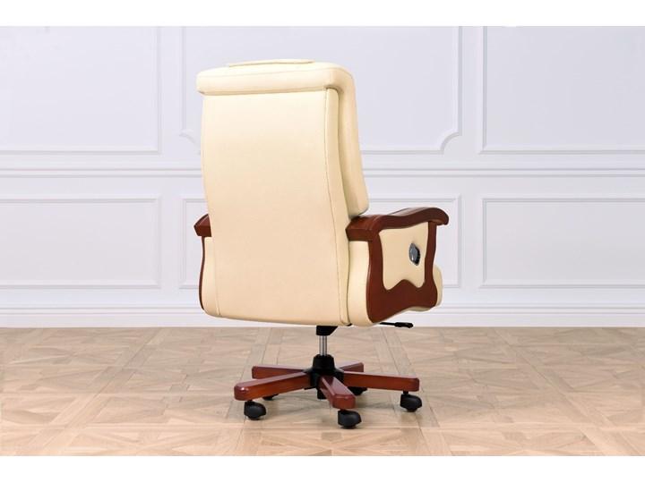Fotel skórzany Prestige, kremowy Głębokość 89 cm Metal Szerokość 75 cm Tworzywo sztuczne Z podłokietnikiem Pomieszczenie Biuro i pracownia Skóra Wysokość 115 cm Wysokość 122 cm Drewno Tkanina Tapicerowane Kategoria Krzesła kuchenne