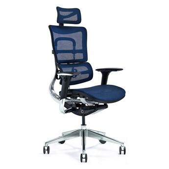 Ergonomiczny fotel biurowy ERGO 800-M granatowy mesh