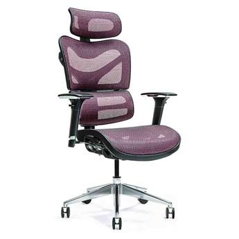 Ergonomiczny fotel Ergo 600, mesh, śliwkowy