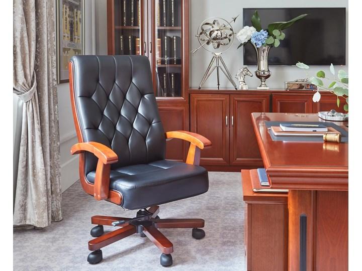 Fotel skórzany gabinetowy Consul, czarny