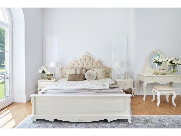Królewskie łóżko La Perle 905, ecru,180x200 cm Tkanina Łóżko tapicerowane Kategoria Łóżka do sypialni