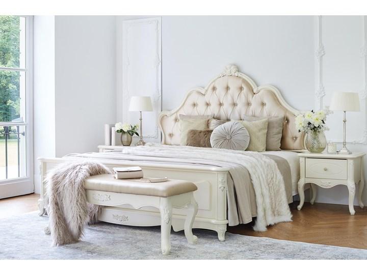 Królewskie łóżko La Perle 905, ecru,180x200 cm Tkanina Łóżko tapicerowane Kategoria Łóżka do sypialni Kolor Beżowy