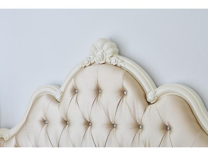 Królewskie łóżko La Perle 905, ecru,180x200 cm Kategoria Łóżka do sypialni Tkanina Łóżko tapicerowane Kolor Beżowy
