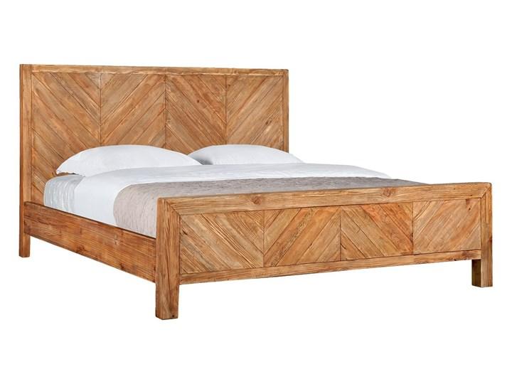 Łóżko drewniane Idyllic z zagłówkiem, 180x200 Drewno Styl Rustykalny
