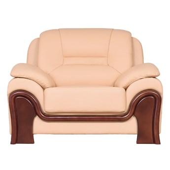 Fotel wypoczynkowy Palladio ze skóry, kremowy