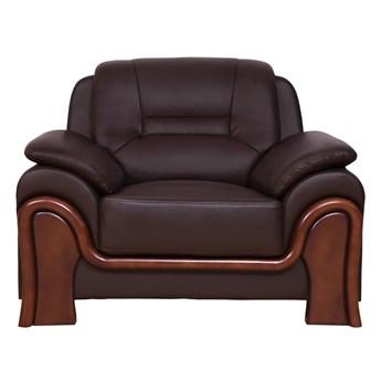 Fotel skórzany gabinetowy Palladio, brązowy