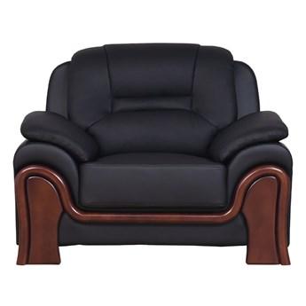 Fotel gabinetowy Palladio ze skóry, czarny