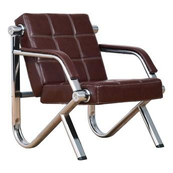 Fotel wypoczynkowy Stilio do biura, kasztanowy