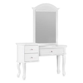 Biała stylowa toaletka z lustrem Victoria806
