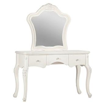 Toaletka z lustrem La Perle, 3 szuflady, 120x165, ecru