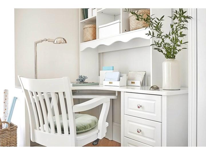 Narożne białe biurko z nadstawką Victoria813 Biurko narożne Szerokość 150 cm Płyta MDF Pomieszczenie Biuro