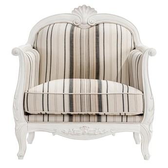 Fotel Elodie I, beżowo-czarny, prowansalski