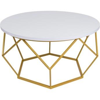 Stolik kawowy Diamond 70cm złoto biały