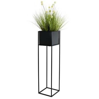 Nowoczesny kwietnik stojak czarny 90 cm