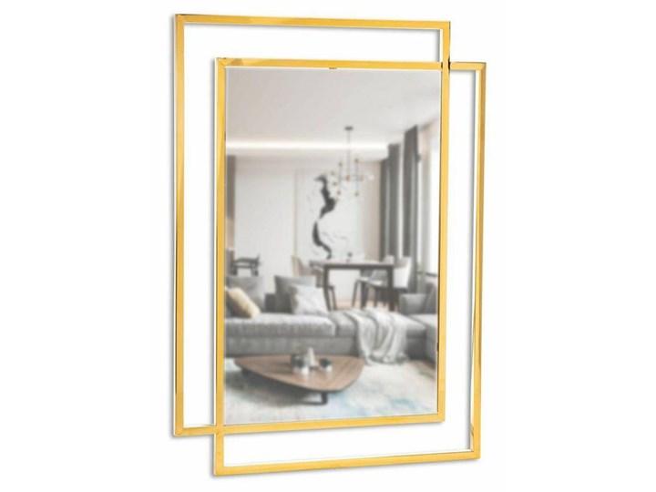 Lustro Vido Gold 110x80 cm Ścienne Prostokątne Styl Klasyczny