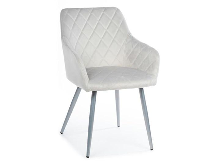 Krzesło Rico Light Gray Kategoria Krzesła kuchenne Tkanina Metal Welur Styl Nowoczesny