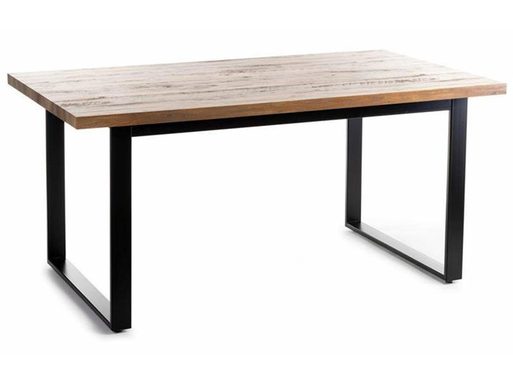 Stół Silva Black Oak 160x90 cm Metal Płyta MDF Długość 160 cm  Drewno Wysokość 75 cm Stal Pomieszczenie Stoły do jadalni